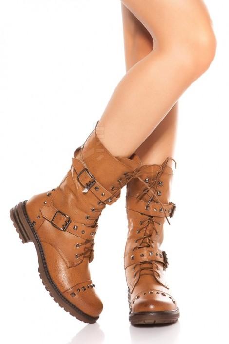 Байкерские ботинки женские MF10048 (310048)