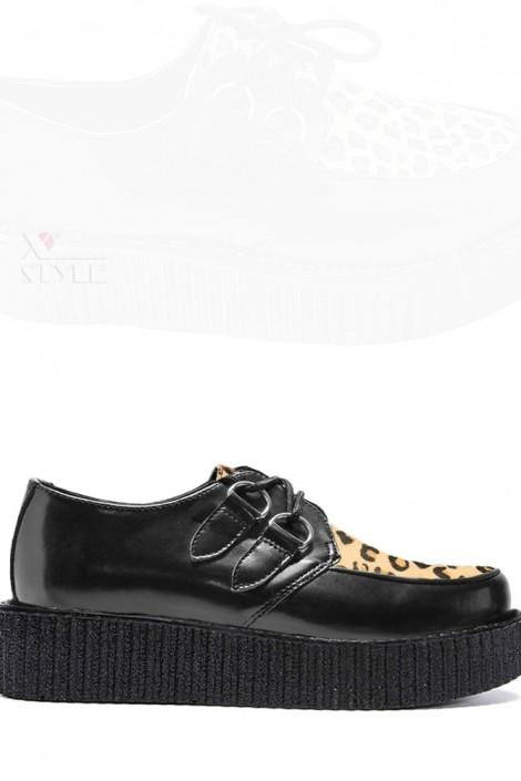 Туфли с леопардовой вставкой (311763)