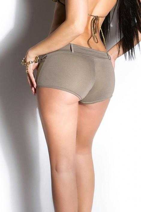 Короткие эластичные шорты (капучино) (110905)