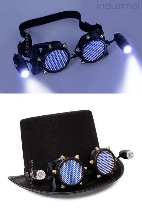 Черные гогглы с подсветкой I5103 (905103)