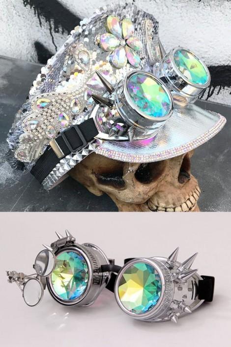 Гогглы с шипами и лупой в стиле Burning Man (905105)