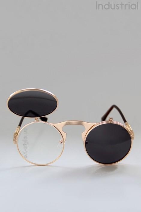 Круглые очки с откидными линзами IN62g (905062)