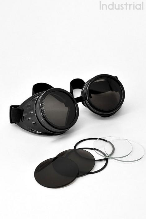 Черные гогглы со съемными линзами IN5084 (905084)