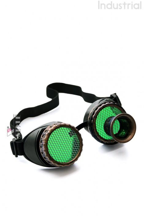 Очки-гогглы Стимпанк с монокуляром (905118)