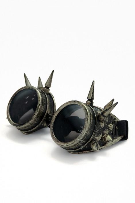 Круглые очки с шипами Industrial (905066)