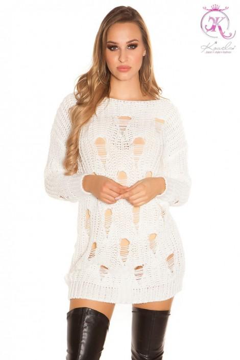 Рваное платье-свитер KC5372 (105372)