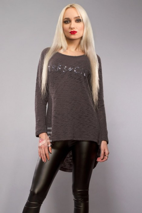 Хлопковый пуловер оверсайз X1140 (111140)