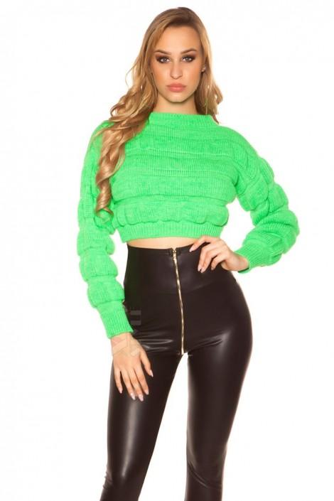 Пуловер женский MF1244 (неоновый зеленый) (111244)