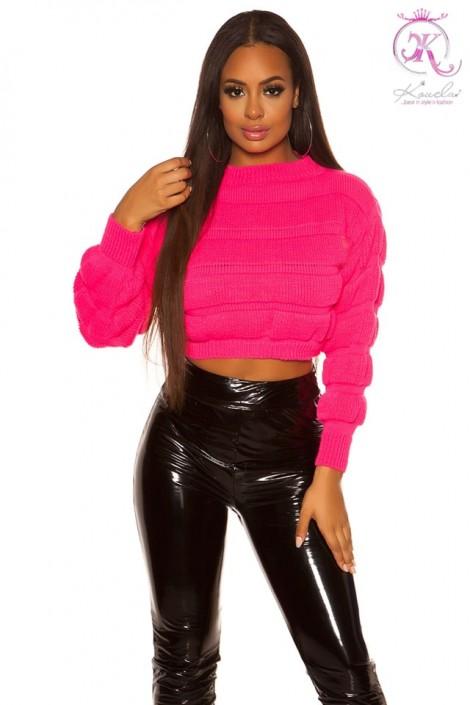 Пуловер женский цвета фуксии KC1245 (111245)