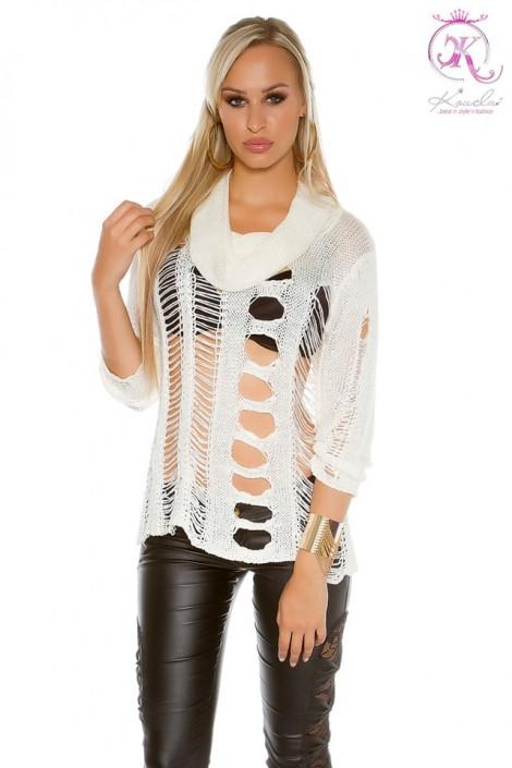 Рваный женский пуловер KC1252 (111252)