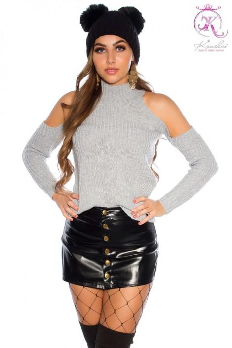 Водолазка-свитер с открытыми плечами KC1024 (141024)