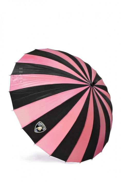 Зонт-трость 24 спицы (фуксия/черный) (402074)