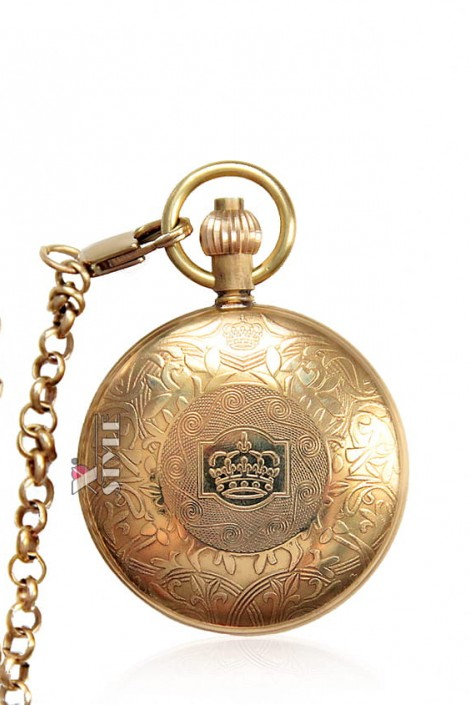 Карманные механические часы в антикварном стиле (330039)