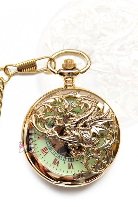 """Карманные часы """"Золотой дракон"""" (330042)"""