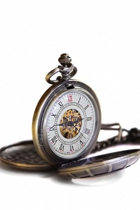 Двусторонние часы в стиле Стимпанк (330025)