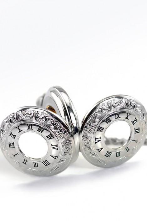 Карманные механические часы с открытым механизмом (330052)