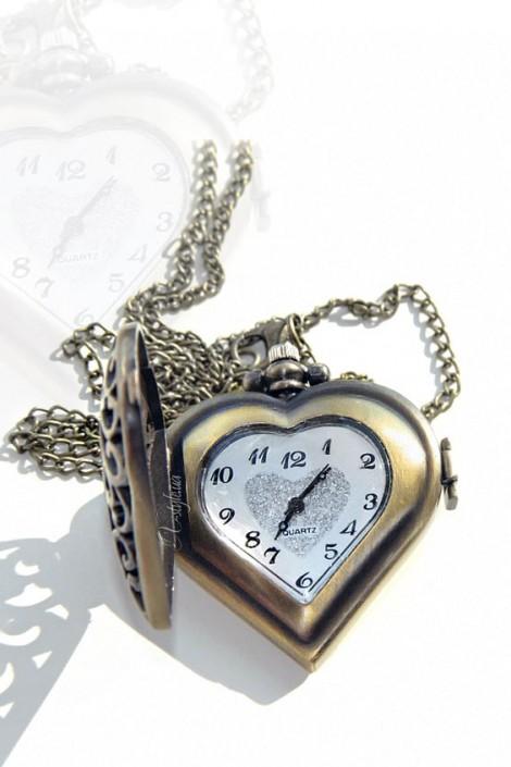 Кулон-часы Сердце VTC (350104)