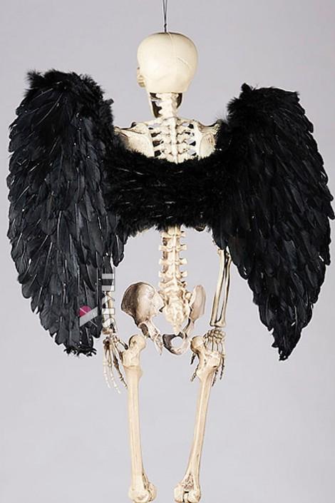 Большие черные крылья (100 см) (420032)