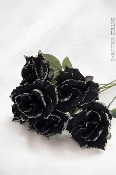 Черная роза (51 см) (520003)