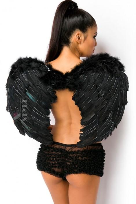 Черные крылья ангела (80 см) (420031)
