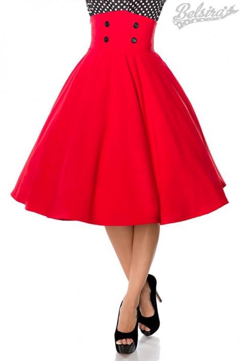Красная юбка в стиле Ретро (107131)