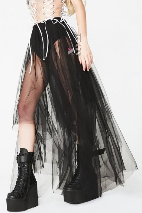 Длинная асимметричная юбка-пачка (107168)