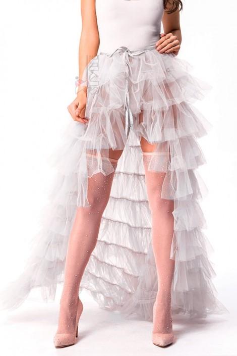 Белая юбка пачка со шлейфом X7169 (107169)
