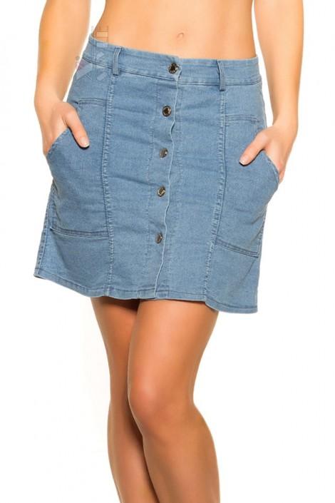 Джинсовая юбка с застежкой на пуговицах M7173 (107173)