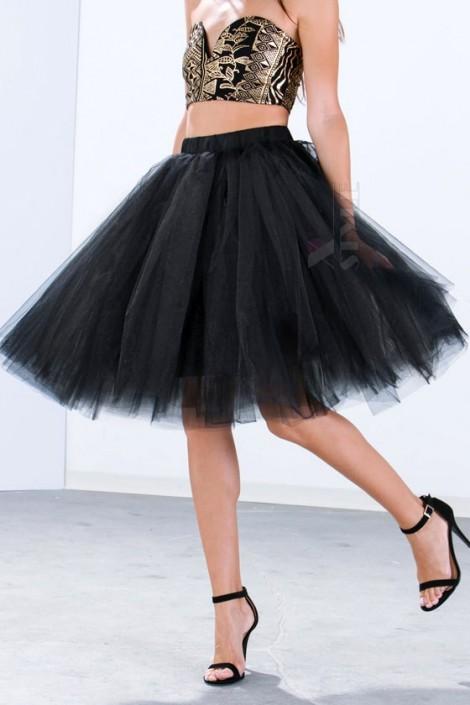 Пышная юбка-пачка миди X7183 (107183)