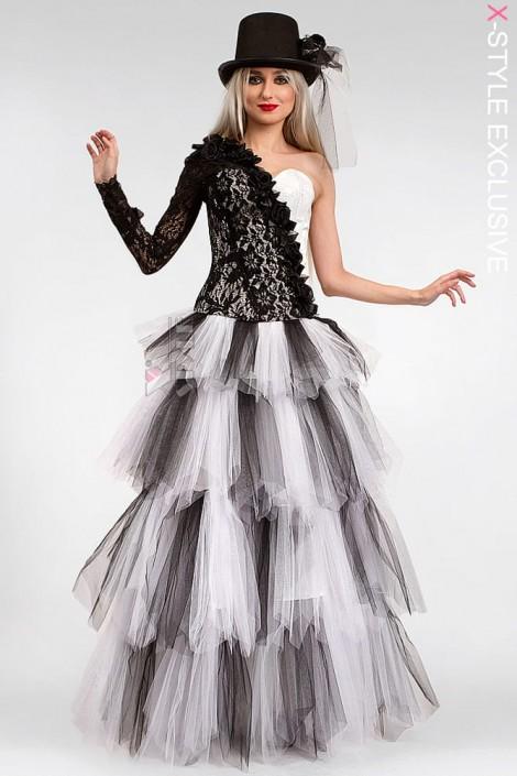 Длинная многослойная пышная юбка X-Style (107143)