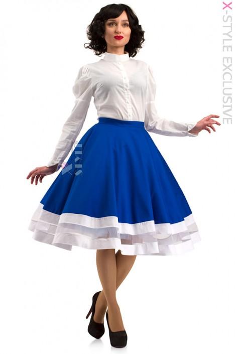 Винтажная синяя юбка X7161 (107161)