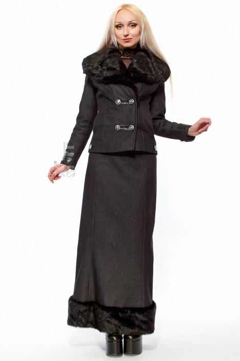 Длинная юбка на флисе с мехом X-Style (107081)