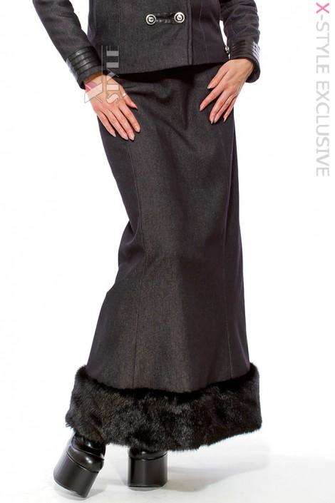 Длинная юбка с мехом X-Style (107081)