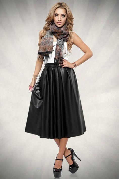 f17af14cf47 Расклешенная юбка из эко-кожи X137 купить недорого в Киеве