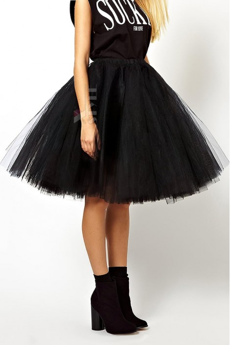 Суперпышная черная юбка-пачка X7150 (107150)