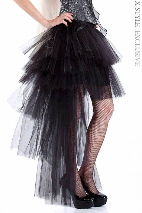 Многослойная пышная асимметричная юбка (107049)
