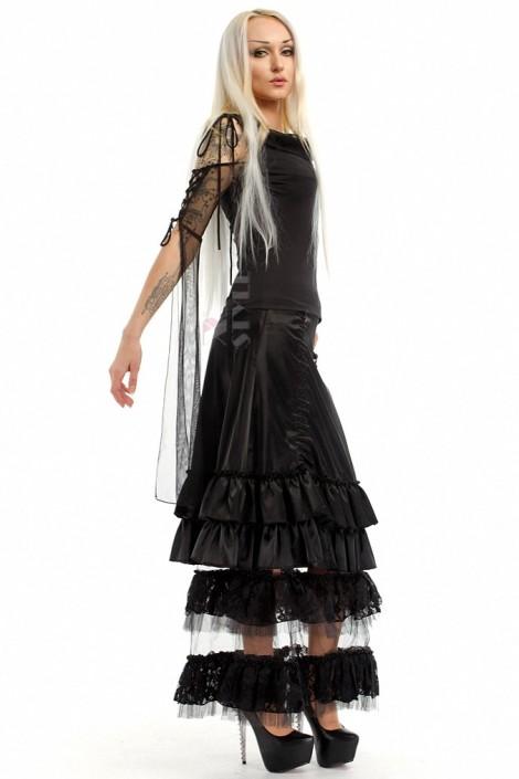 Длинная юбка с прозрачным низом X-Style (107006)
