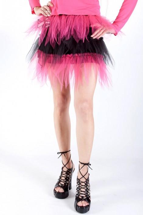 Двухцветная юбка-пачка (107047)