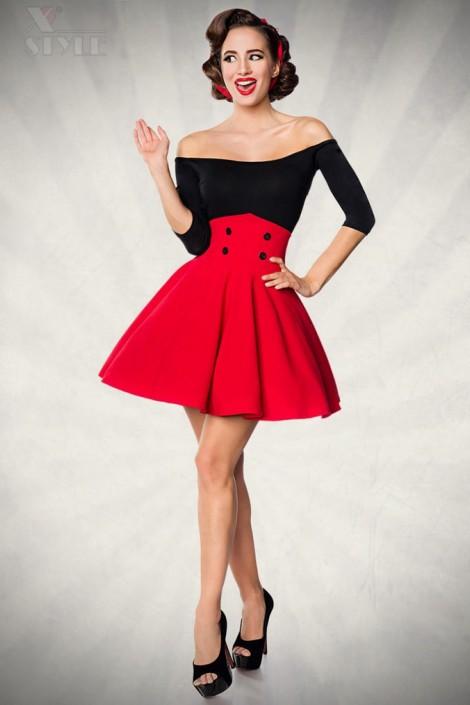 Красная юбка клеш Belsira (107133)