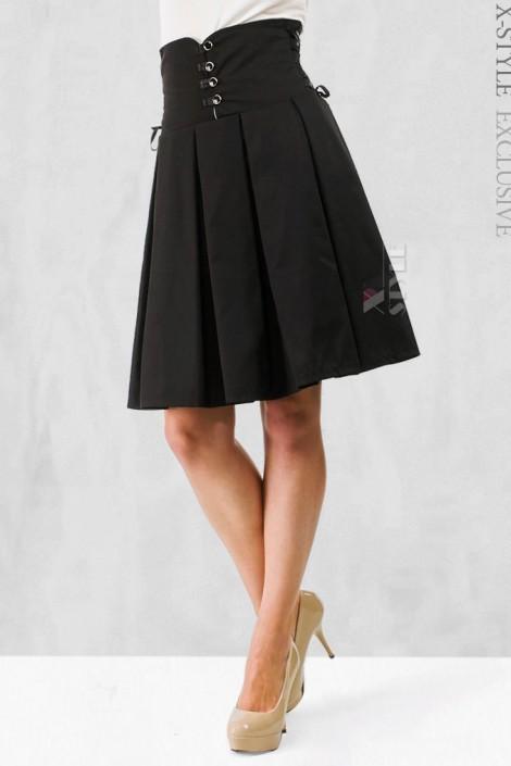 Плиссированная юбка с корсетом (107075)