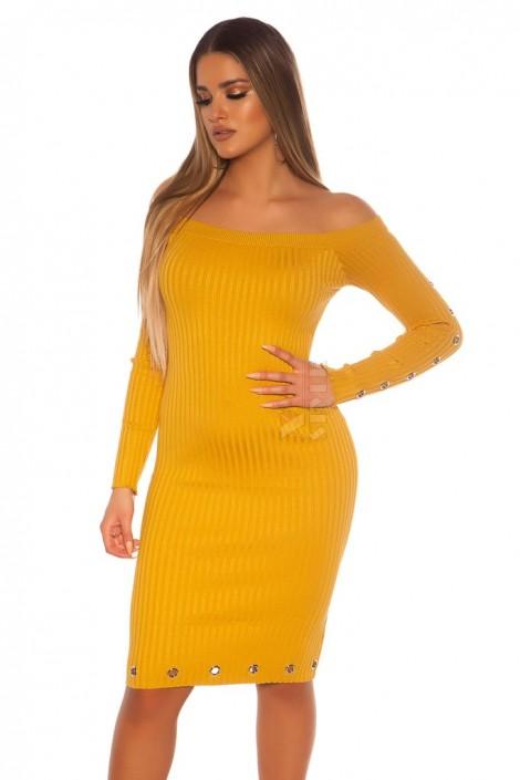 Трикотажное платье в рубчик средней длины MF5453 (105453)