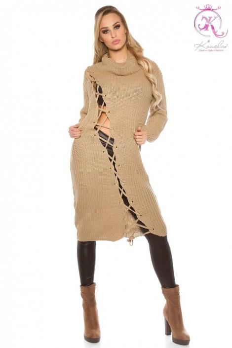 Вязаное платье KouCla (капучино) (105361)