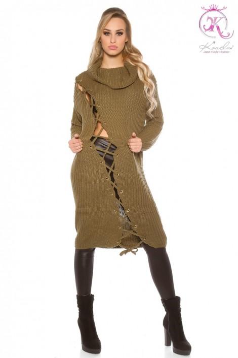 Платье-свитер со шнуровкой KouCla (105365)