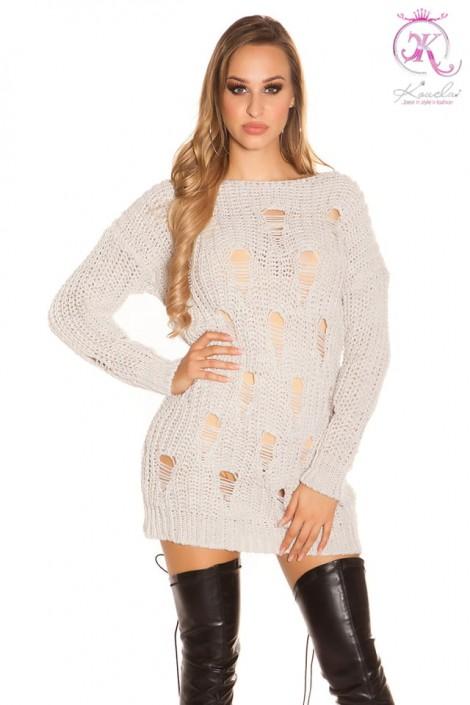 Свитер-платье с прорезями спереди KC5376 (105376)