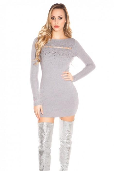 Короткое облегающее платье с декором спереди MF5377 (105377)
