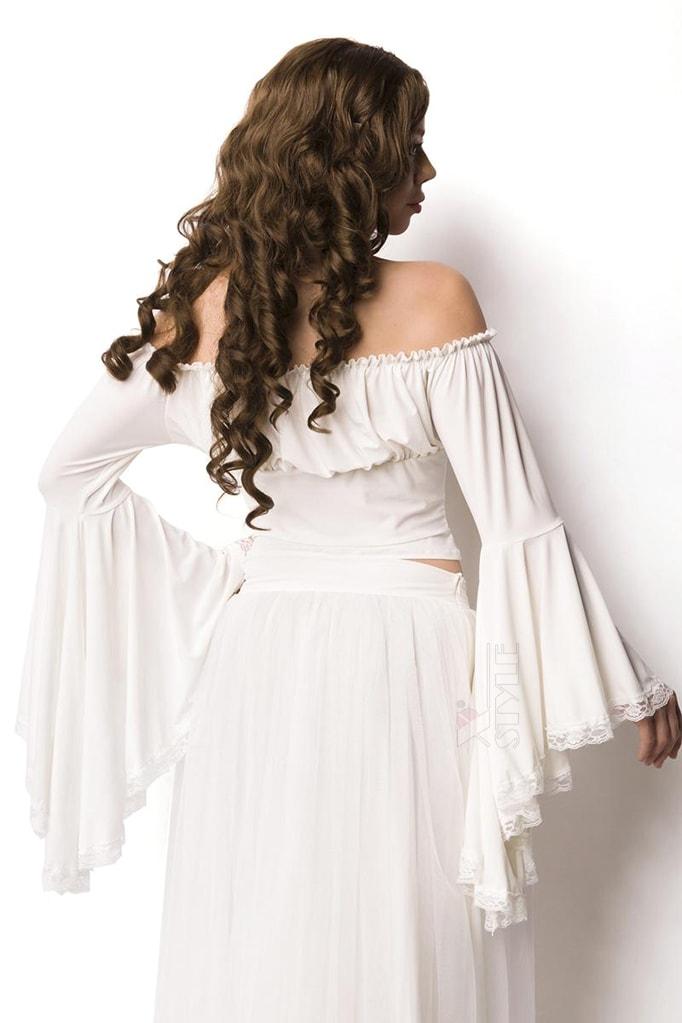 Белая блузка в пиратском стиле A212, 3