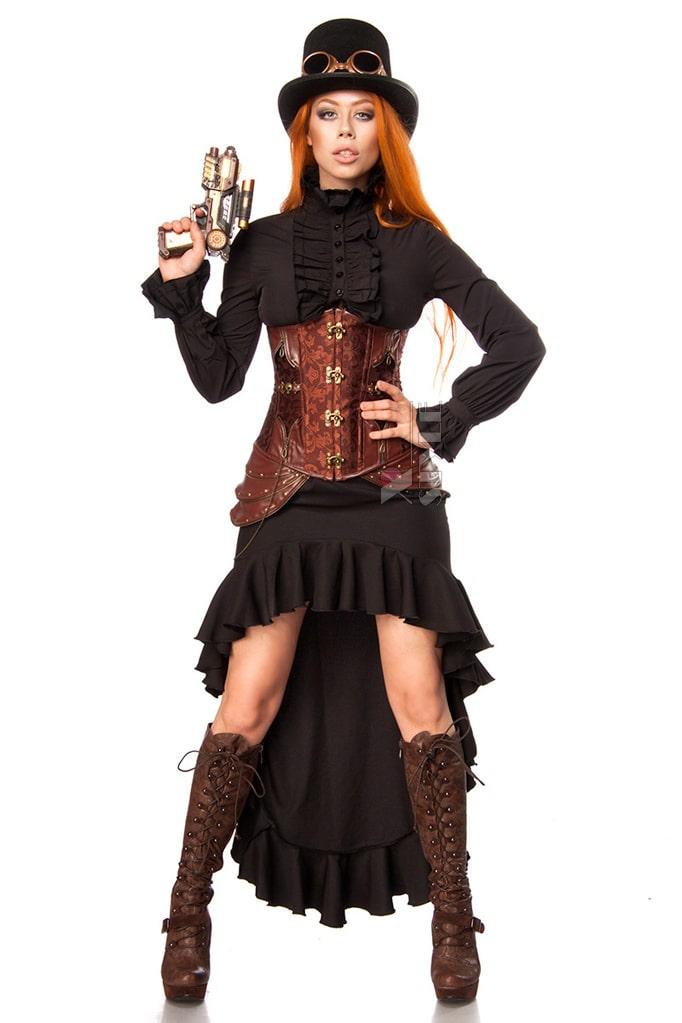 Юбка со шлейфом Steampunk Fighter