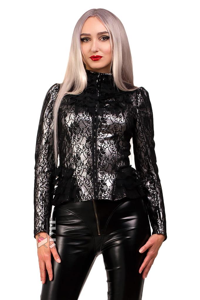 Винтажный пиджак с сеточкой X135, 11