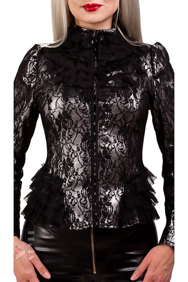 Винтажный пиджак с сеточкой X135, 7