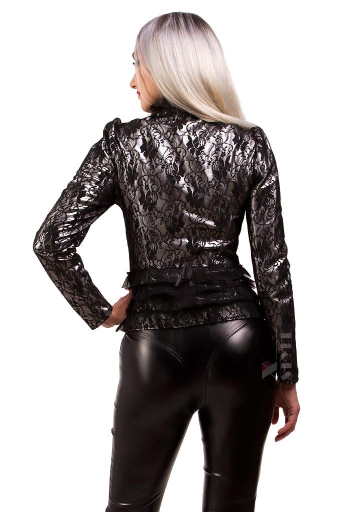 Винтажный пиджак с сеточкой X135, 9
